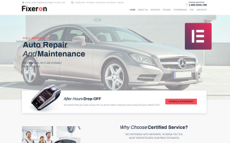 Fixeron - Car Repair WordPress Elementor Theme