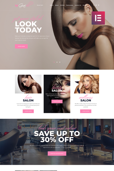 Gracell - Beauty Salon Elementor