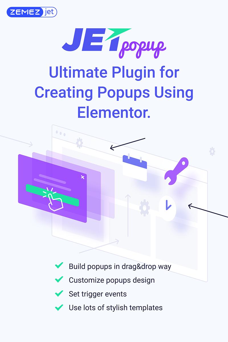 """""""JetPopup - Popup Addon for Elementor"""" WordPress Plug-in №71831"""
