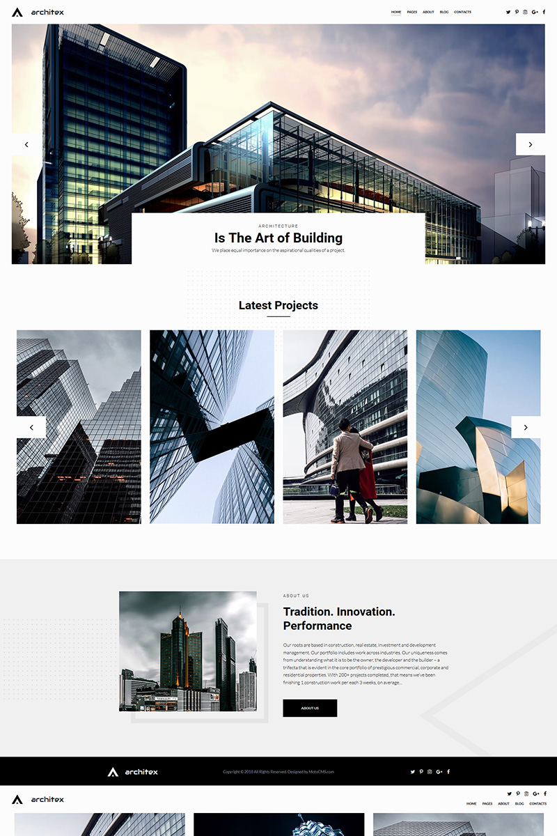 """Local Architects"" 响应式照片库模板 #71807"