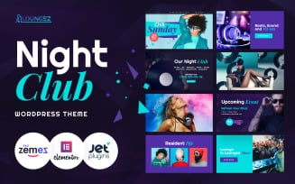 Loungez - Night Club WordPress Elementor Theme