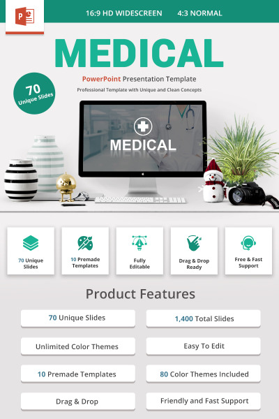 Medical and Healthcare Presentation PowerPoint Template #71817