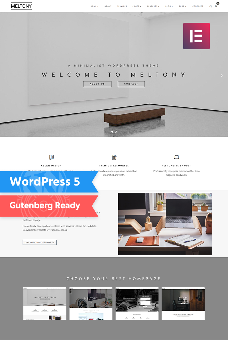 Demo for Meltony - Minimal Multipurpose Elementor WordPress Theme #71806