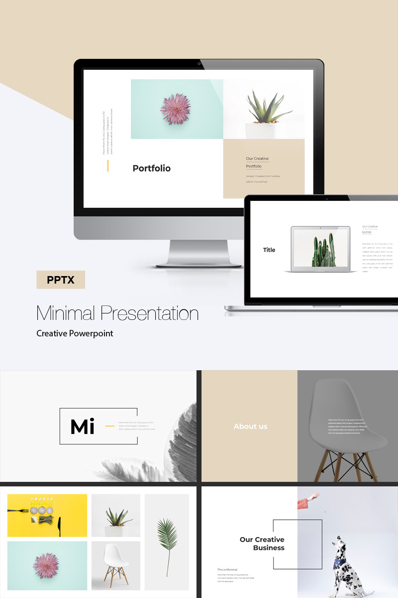 Minimal Presentation Professional Presentation Theme #71812