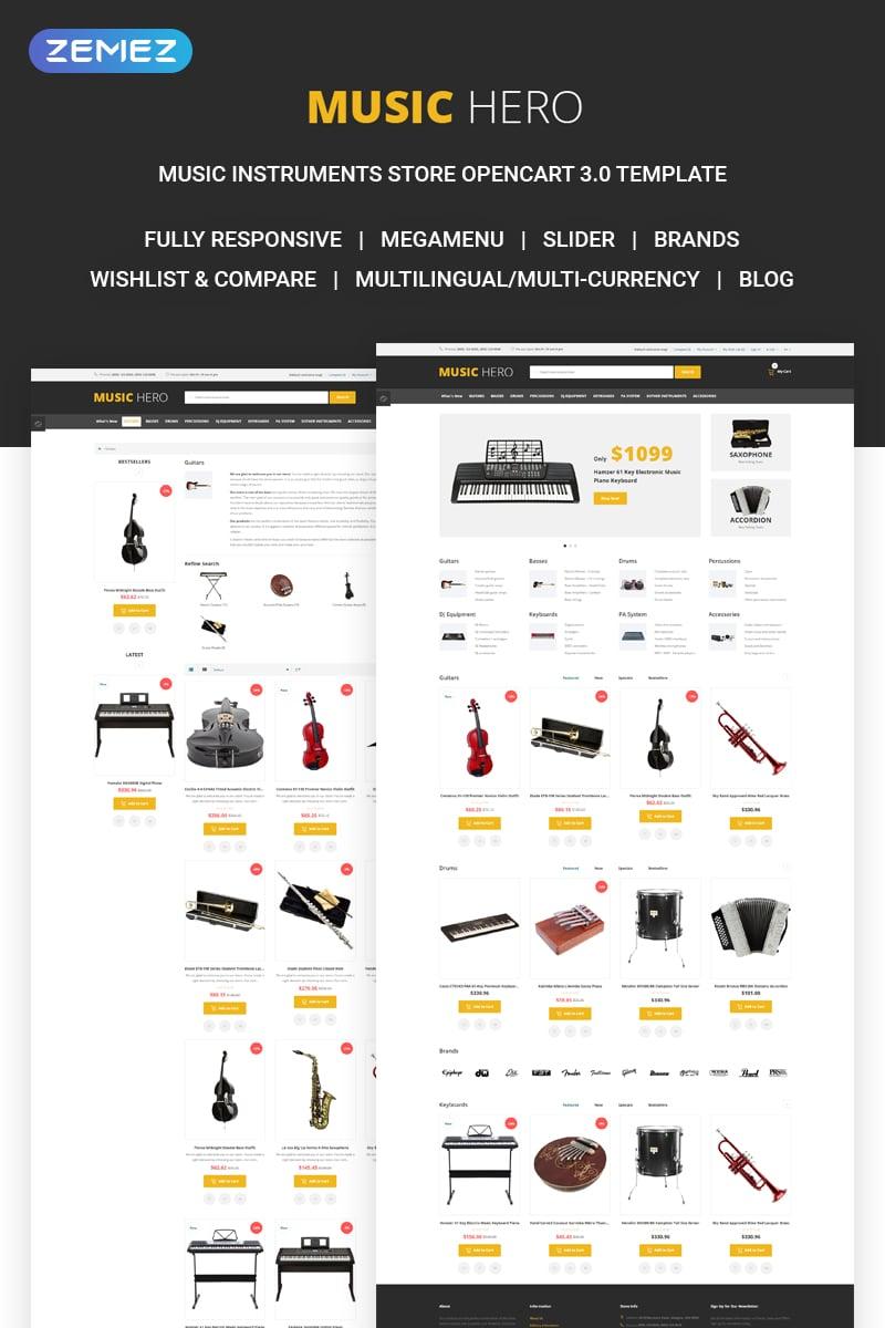 Music Hero - Fancy Music Instruments Online Shop OpenCart Template