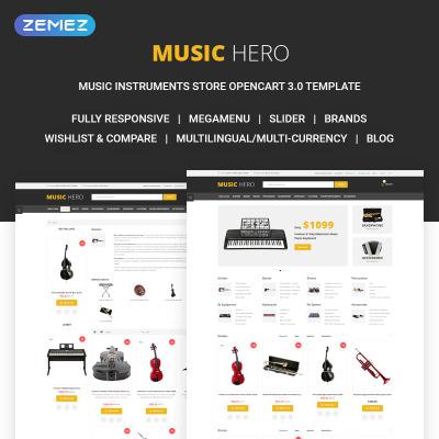 Music Store Templates | TemplateMonster