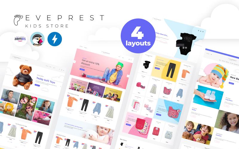 """PrestaShop Theme namens """"Eveprest Kids 1.7 - Kids Store"""" #71803"""