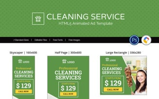 Professional Services   Cleaning Service Animated Banner