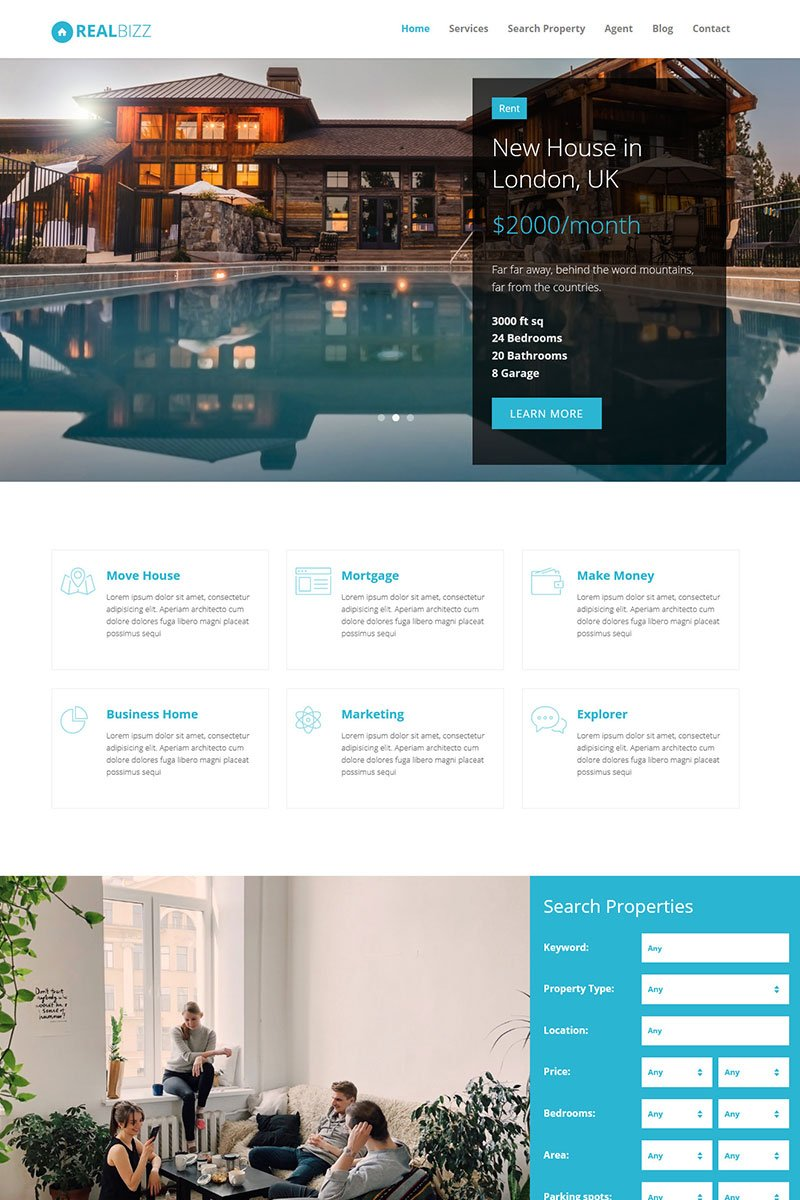 RealBiz - Real State HTML Tempalte Landing Page-mall #71870