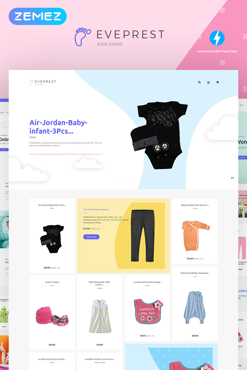 Responsivt Eveprest Kids 1.7 - Kids Store PrestaShop-tema #71803