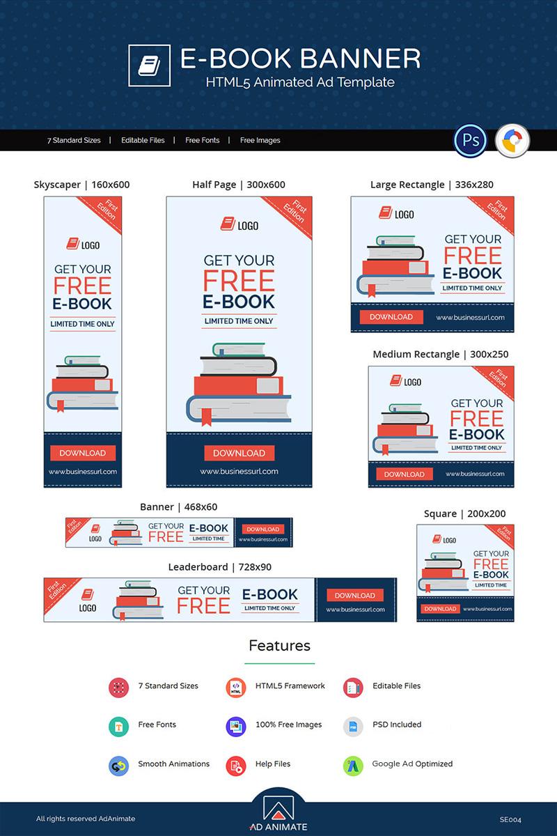 """Shopping & E-commerce | E-book"" Animated Banner №71873 - screenshot"