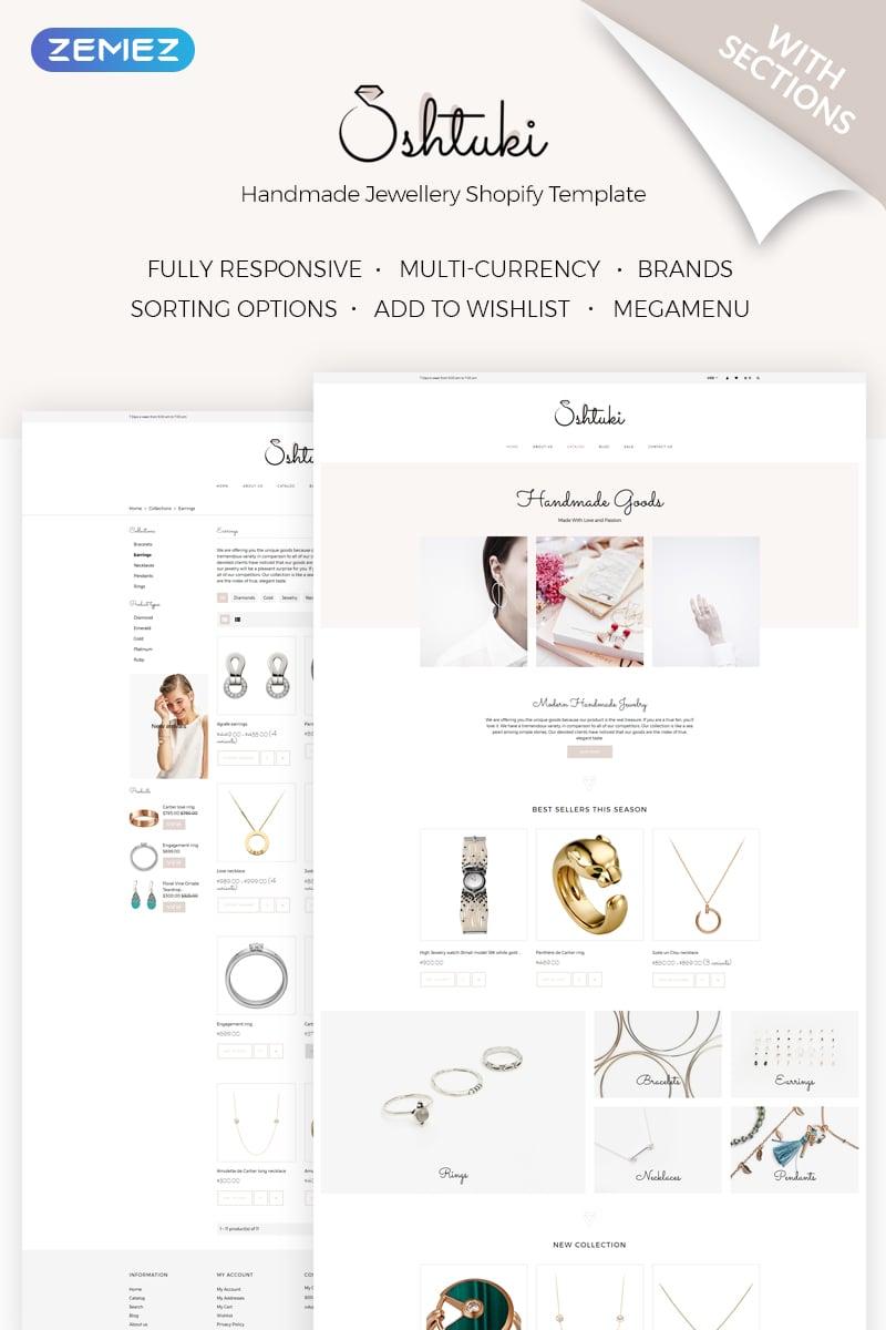 """""""Shtuki - Handmade Goods"""" Responsive Shopify Thema №71841 - screenshot"""