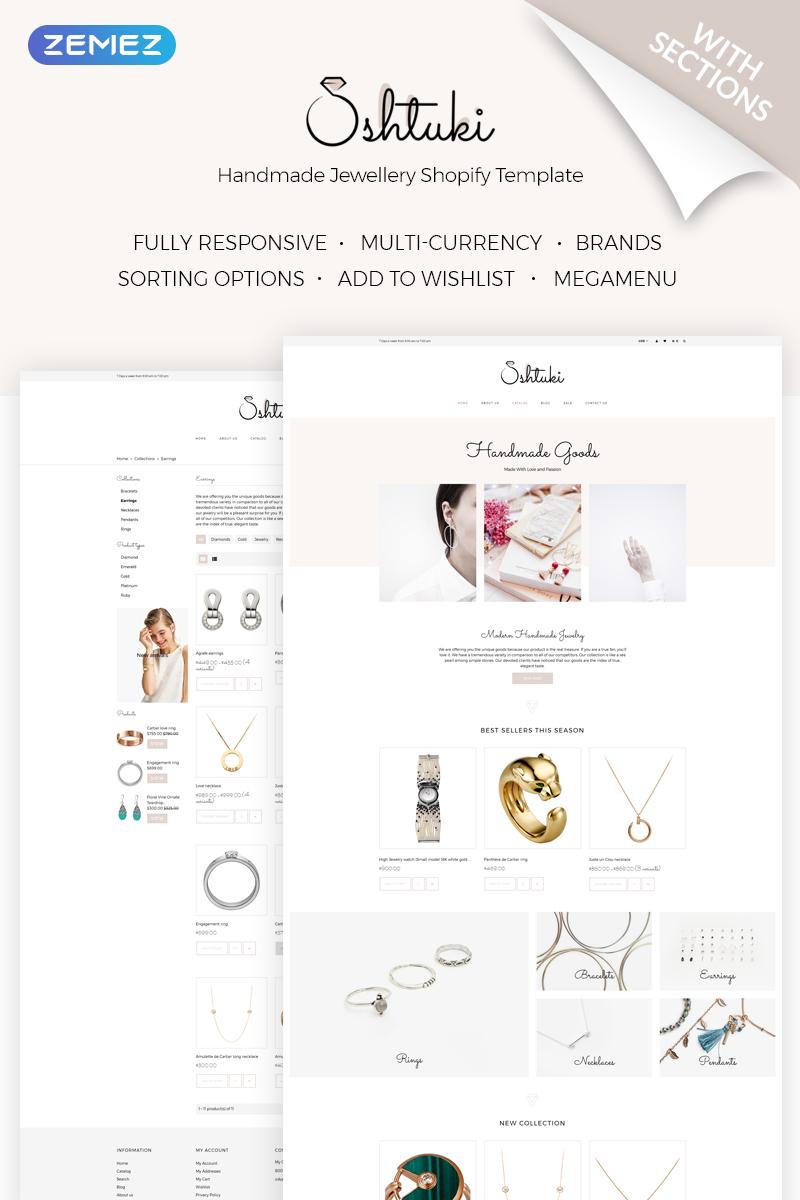 """Shtuki - Handmade Goods"" Responsive Shopify Thema №71841"