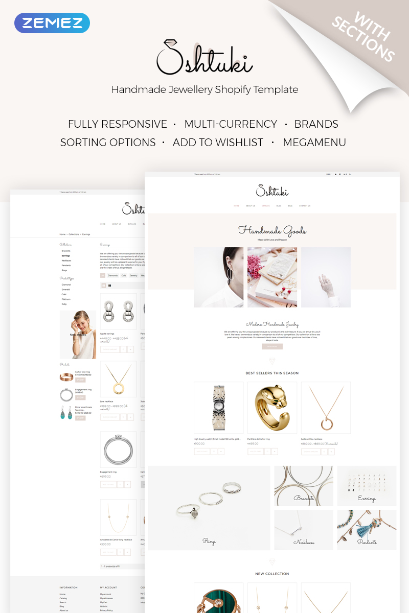 """Shtuki - Handmade Goods"" thème Shopify adaptatif #71841"