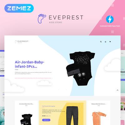 Tema de PrestaShop para Sitio de Tienda de Productos para Bebés #71803