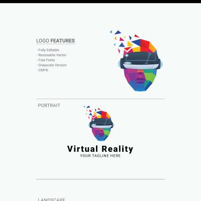 "Tema di Loghi #71889 ""Virtual Reality"" #71889"