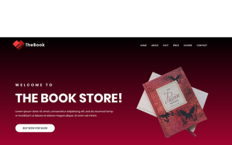 TheBook - HTML5 Book, Writer & Author Template Landing Page Template