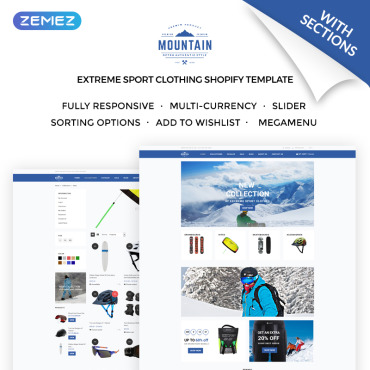 Preview image of Mountain - Extreme Sport Clothing Store