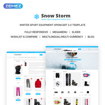 Preview image of Snow Storm - Winter Sports Equipment Store