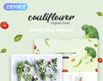 Cauliflower - Organic Food Blog Elementor WordPress Theme