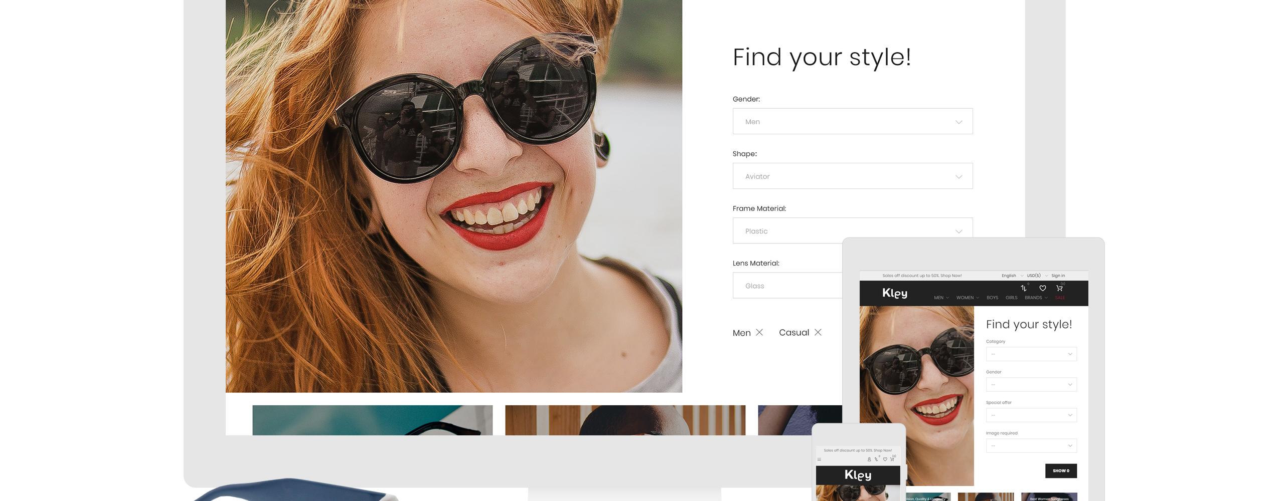 Website Design Template 71949 - accessories eye