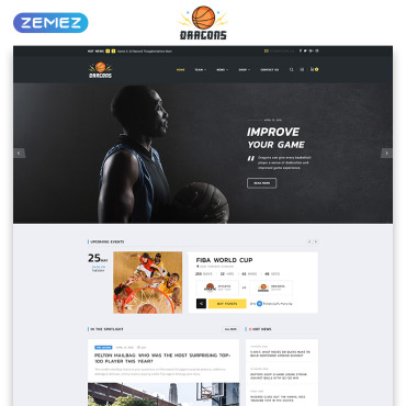 Preview image of Dragons - Basketball Team Multipage HTML5
