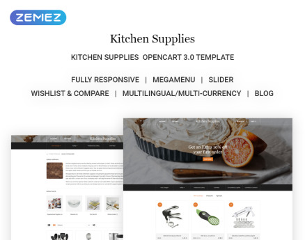 Kitchen Supplies - Elegant Kitchen Accessories Online Store OpenCart Template