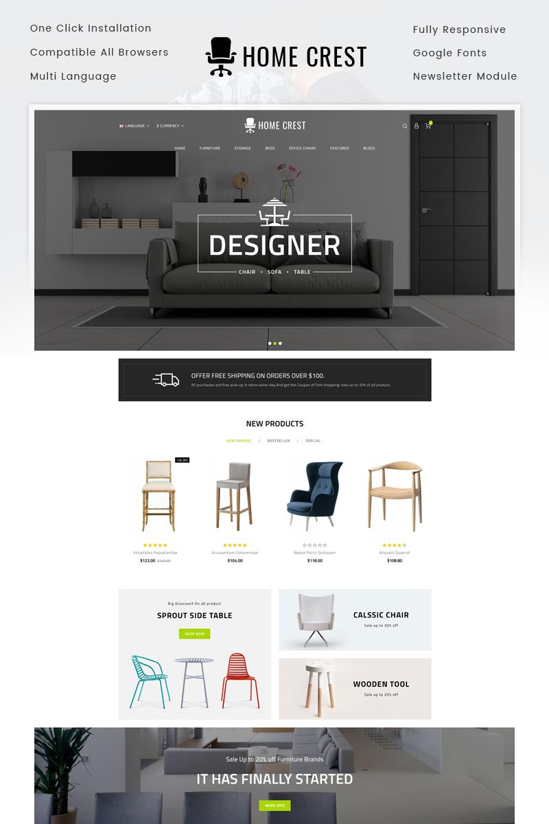 Website Template 71978 Furniture Home Decor Custom Website