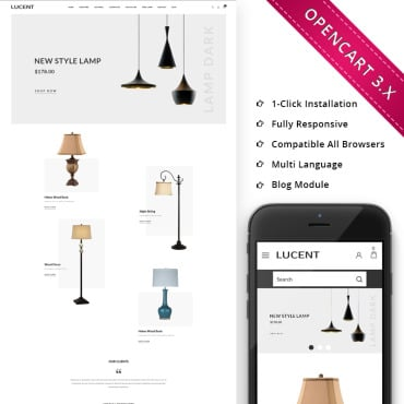 Preview image of Lucent Light Store Responsive Store