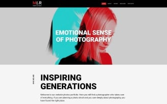 M&R - Accurate Personal Photographer Page Joomla Template