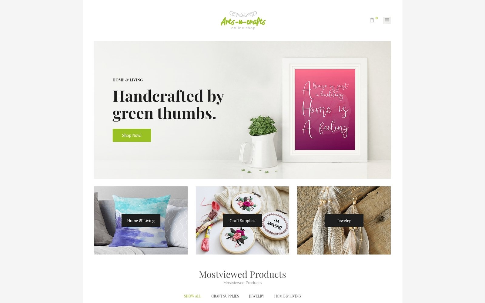 """Arts-n-crafts - Handmade Art Elementor"" - адаптивний WooCommerce шаблон №71971"