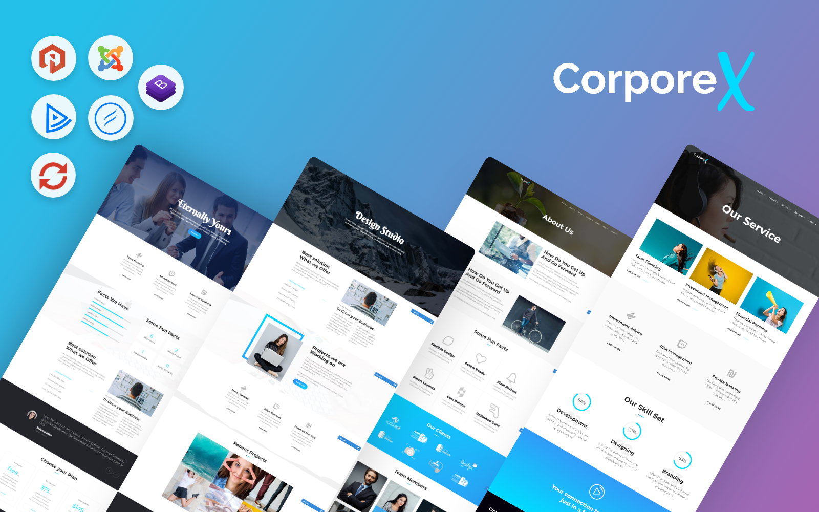 Bootstrap Corporex - Multipurpose Business Joomla sablon 71985