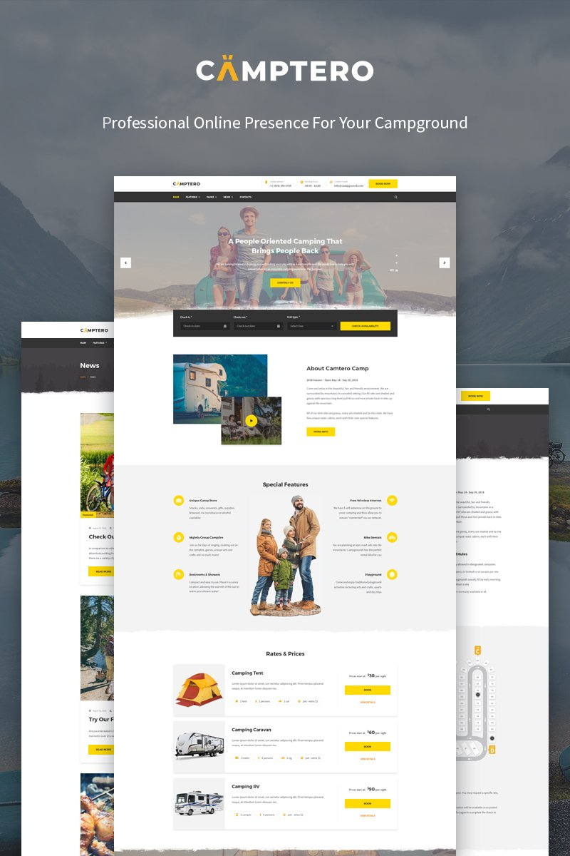 Camptero - Camping WordPress Theme