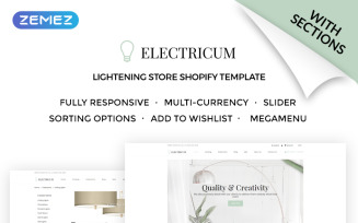 Electricum - Lightening Store Shopify Theme