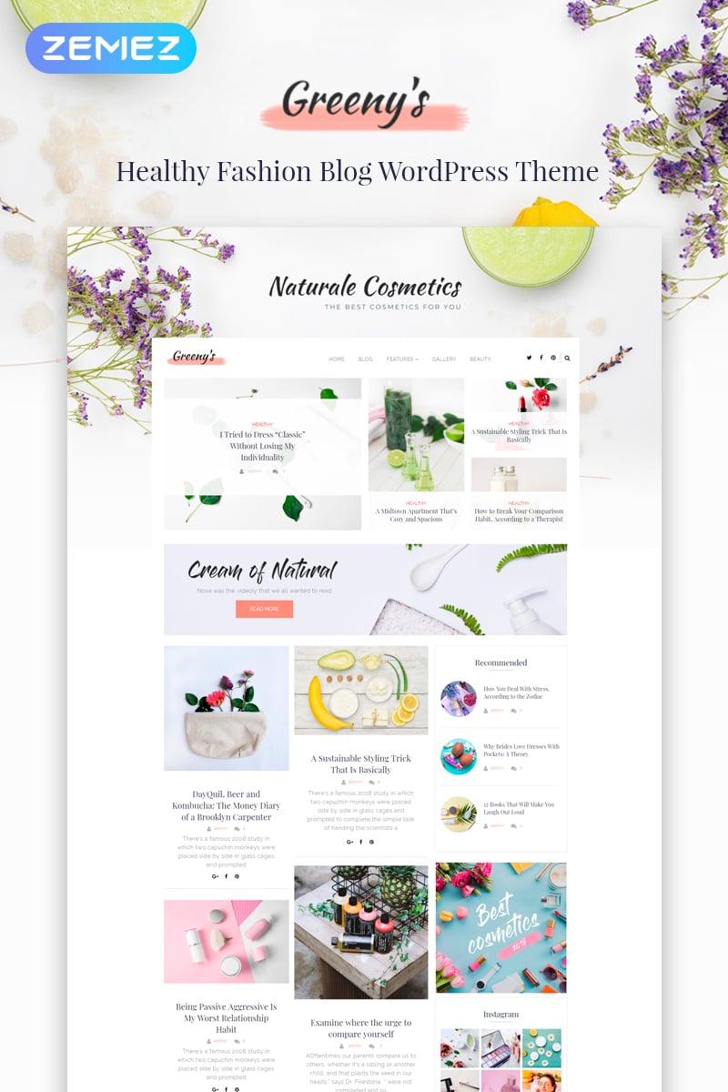 """Greeny's - Healthy Fashion Elementor"" Responsive WordPress thema №71975"