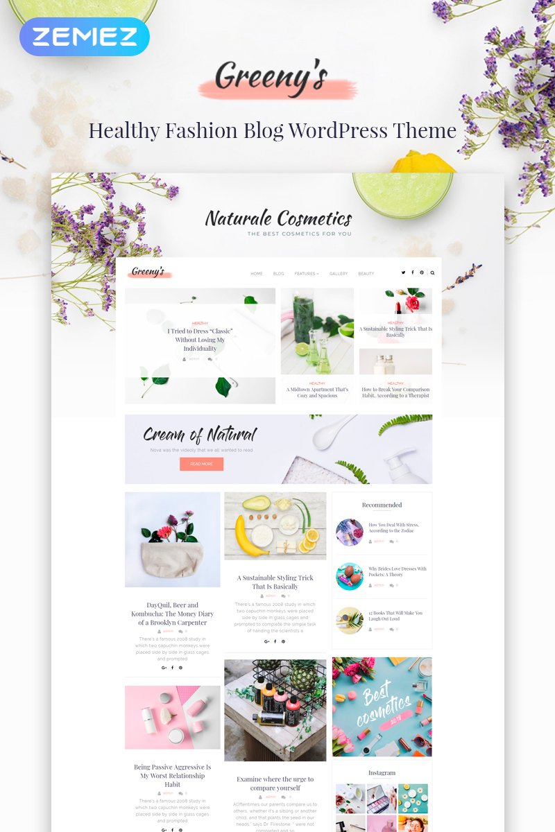 Greeny's - Healthy Fashion Elementor WordPress Theme