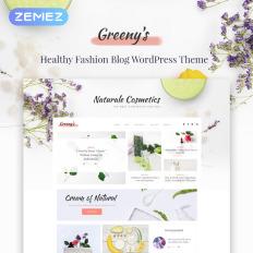 Blank food web wp themes template monster greenys healthy fashion elementor food business wordpress template maxwellsz
