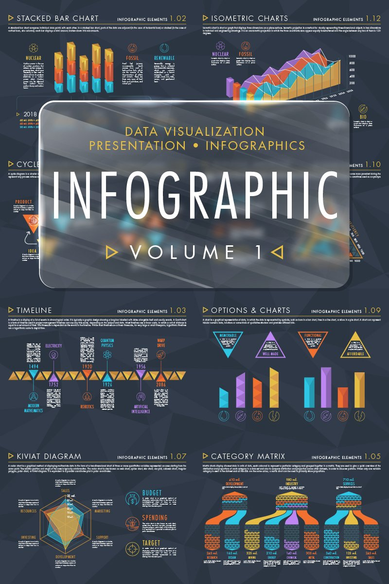 """Infographic Elements Volume 1"" Infographic Elements №71916"