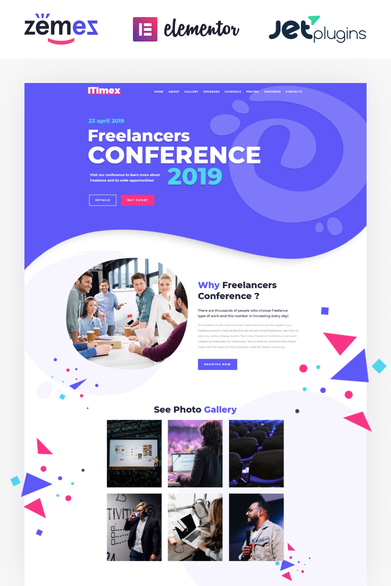 ITImex - IT Conference Elementor WordPress Theme - screenshot