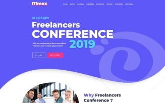 ITImex - IT Conference WordPress Elementor Theme