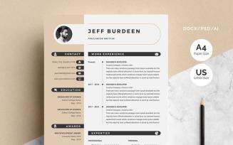 Jeff Burdeen - Modern Resume Template