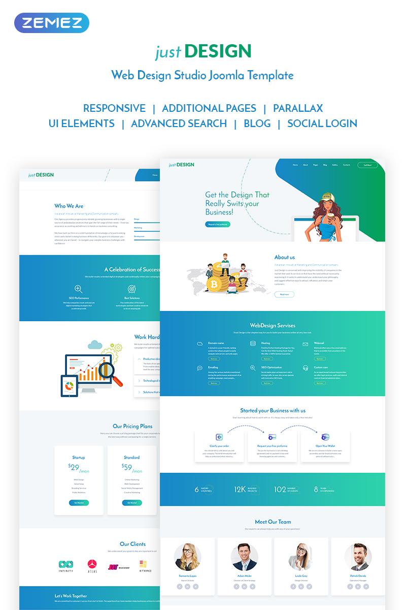 justDESIGN - Web Design Studio Joomla Template