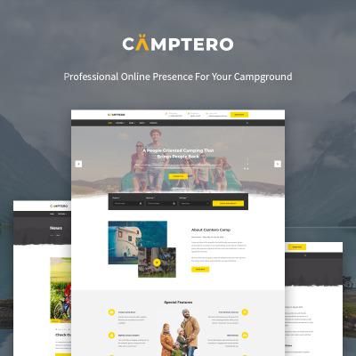 "Modello WordPress Responsive #71987 ""Camptero - Camping"" #71987"