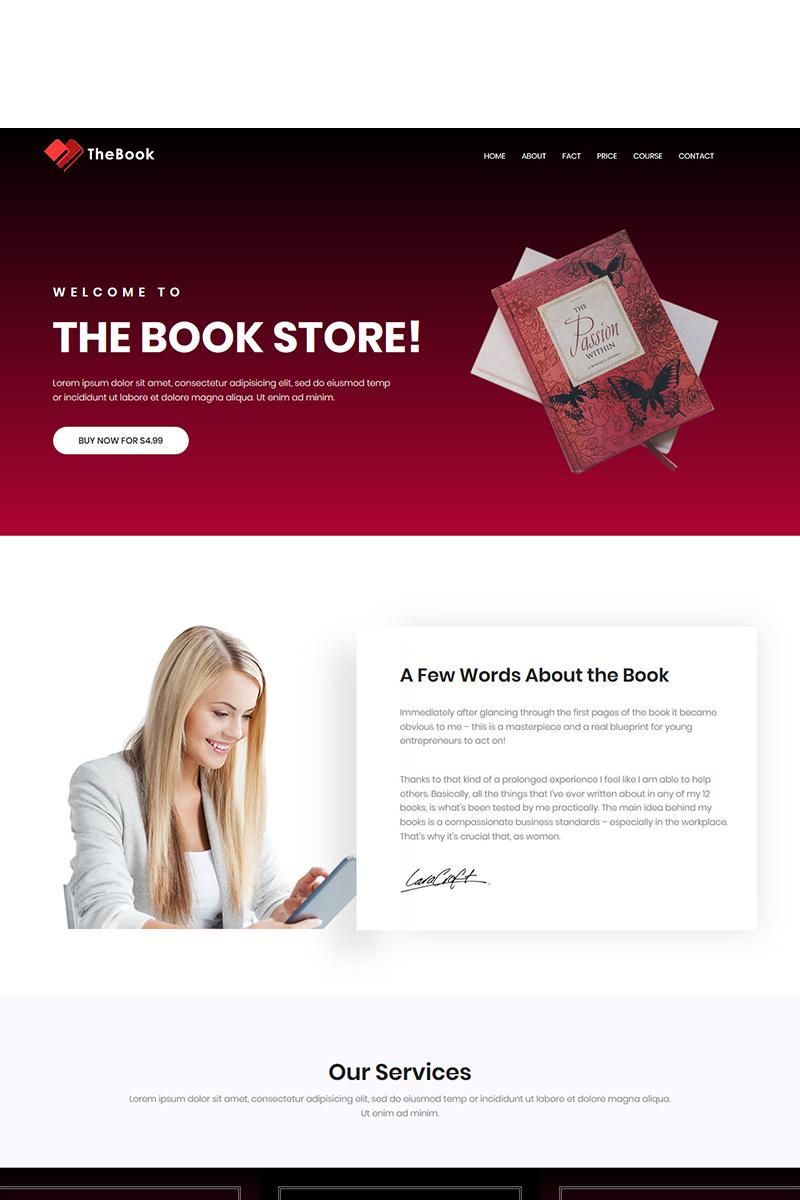 """Plantilla Para Página De Aterrizaje """"TheBook - HTML5 Book, Writer & Author Template"""" #71905"""