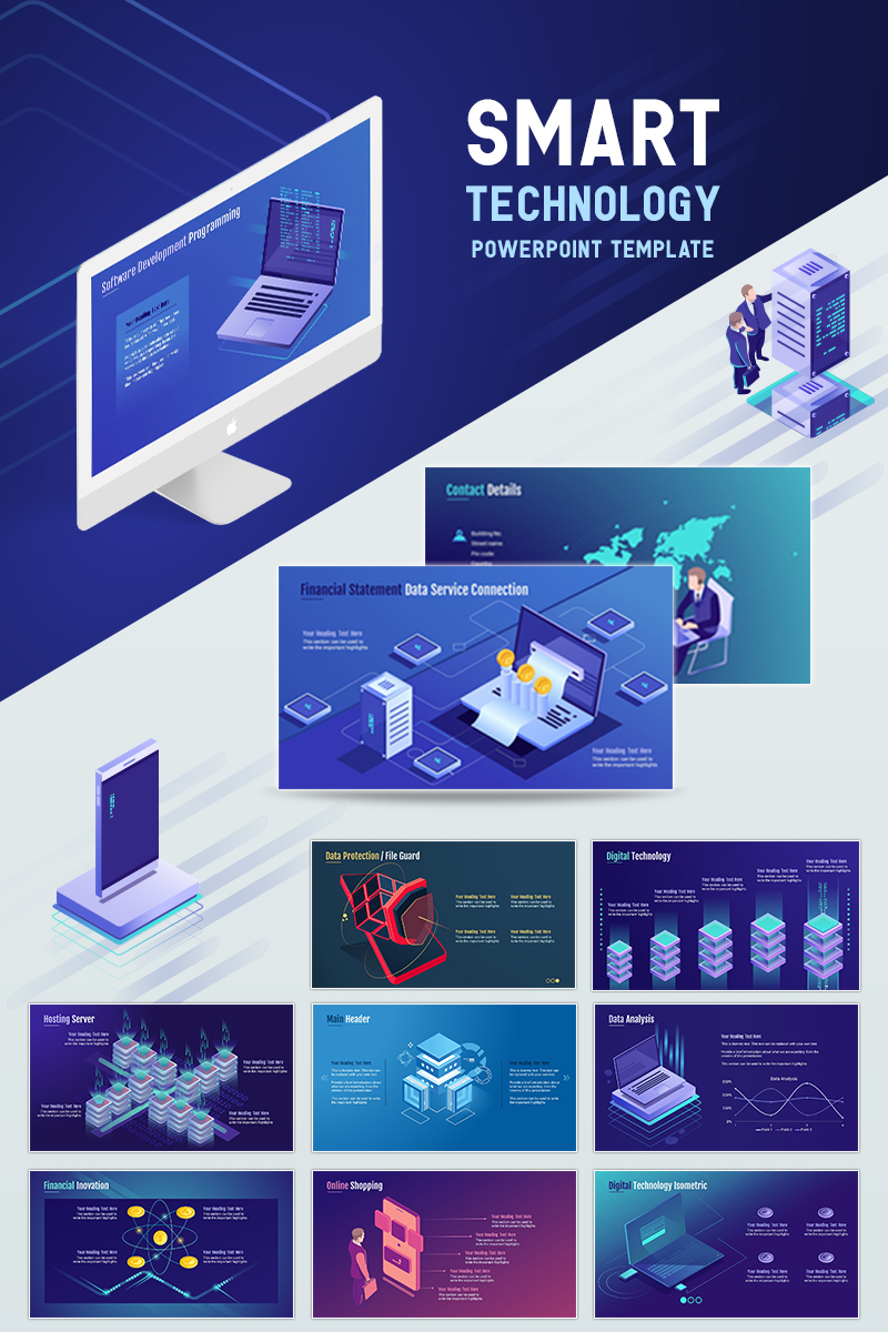 "Plantilla PowerPoint ""Smart Technology"" #71903"