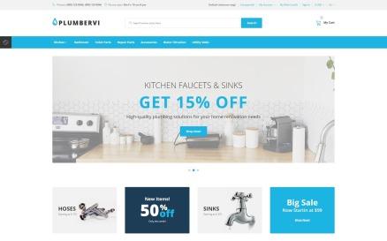 Plumbervi Store - Plumbing Supplies Shop OpenCart Template