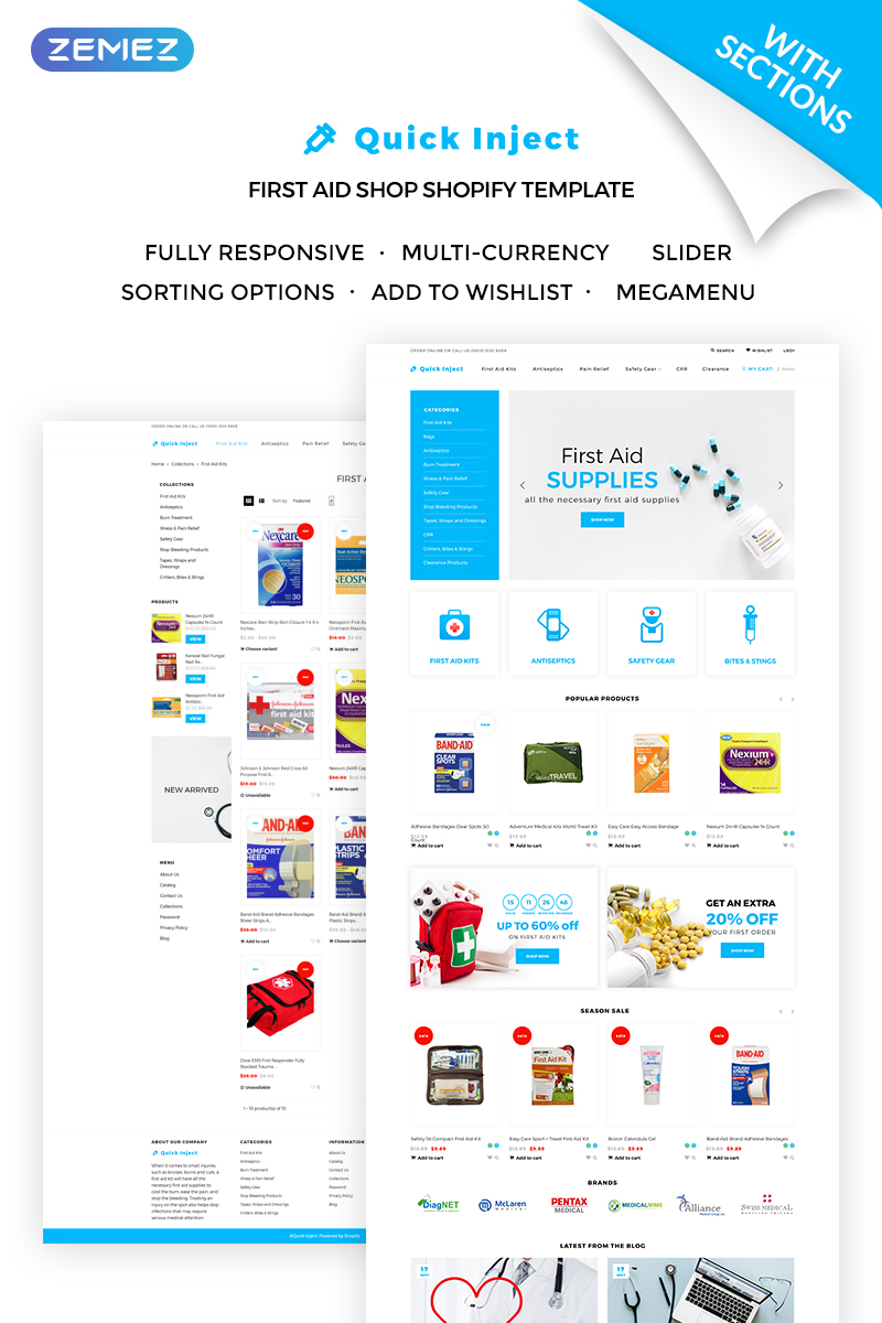 Quick Inject - First Aid Supplies Shopify Theme