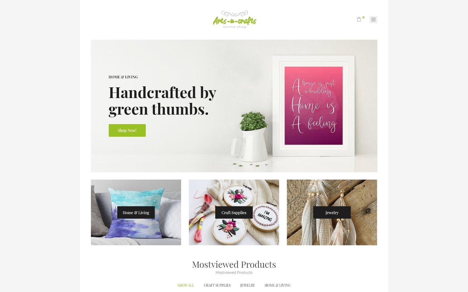 Responsive Arts-n-crafts - Handmade Art Elementor Woocommerce #71971