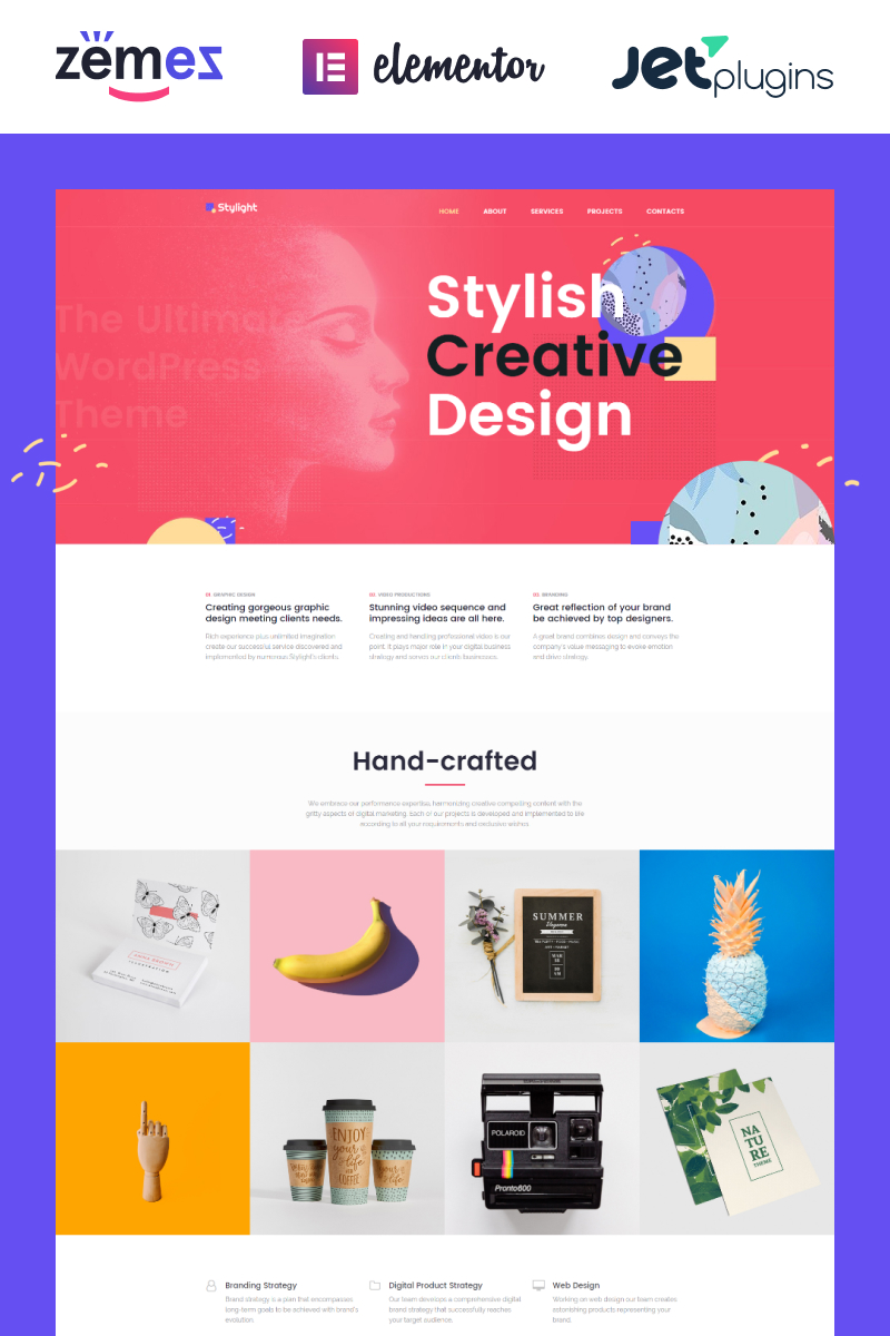 Responsive Stylight- Creative Minimal Elementor Wordpress #71934 - Ekran resmi