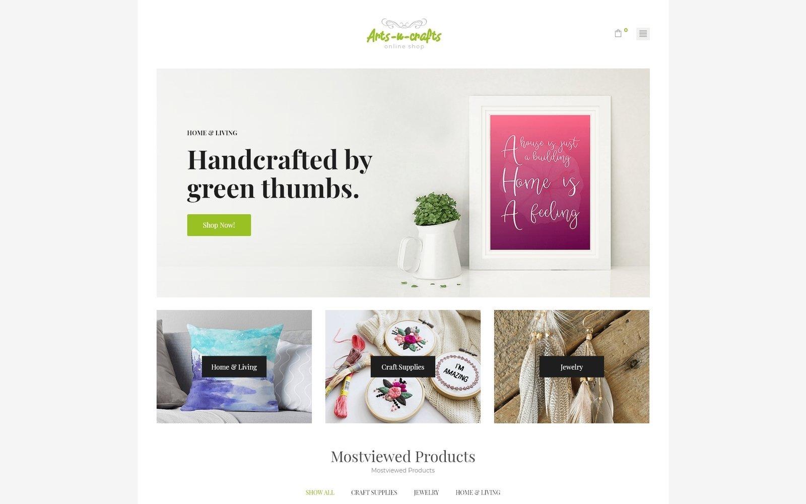 Responsivt Arts-n-crafts - Handmade Art Elementor WooCommerce-tema #71971
